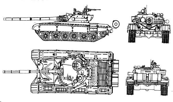 Чертеж основного боевого танка